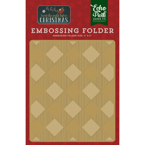 Echo Park Embossing Folder - Buffalo Plaid