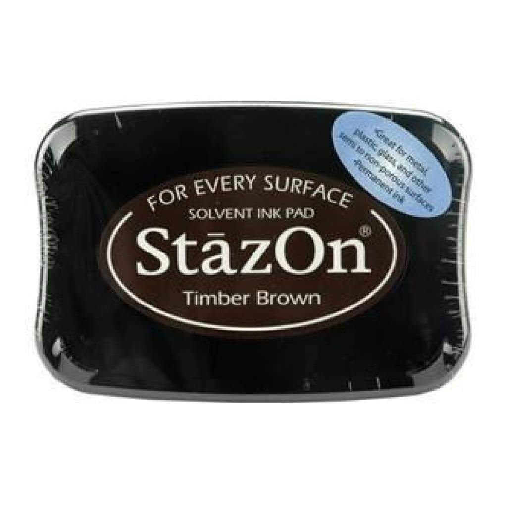 StazOn Solvent Ink Pad - Timber Brown
