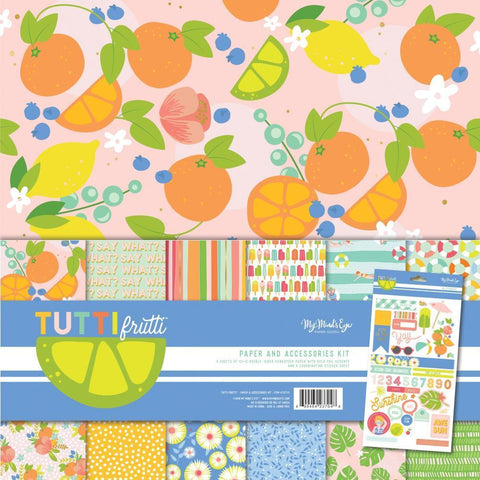 My Minds Eye Paper & Accessories Kit 12x12inch - Tutti Frutti