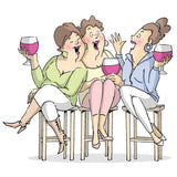 Art Impressions Girlfriends Cling Rubber Stamp 3.25 inch X2.75 inch Wine Tasters