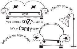 Unity Cling Stamps - Comfy Cosy Kit (7 Stamps) *