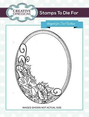 Sue Wilson Stamps To Die For - Poppy Deaydreams Pre Cut Stamp