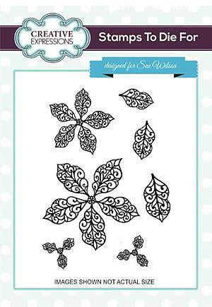 Sue Wilson - Filigree Poinsettia Additions Set Of 7 Pre Cut Stamps