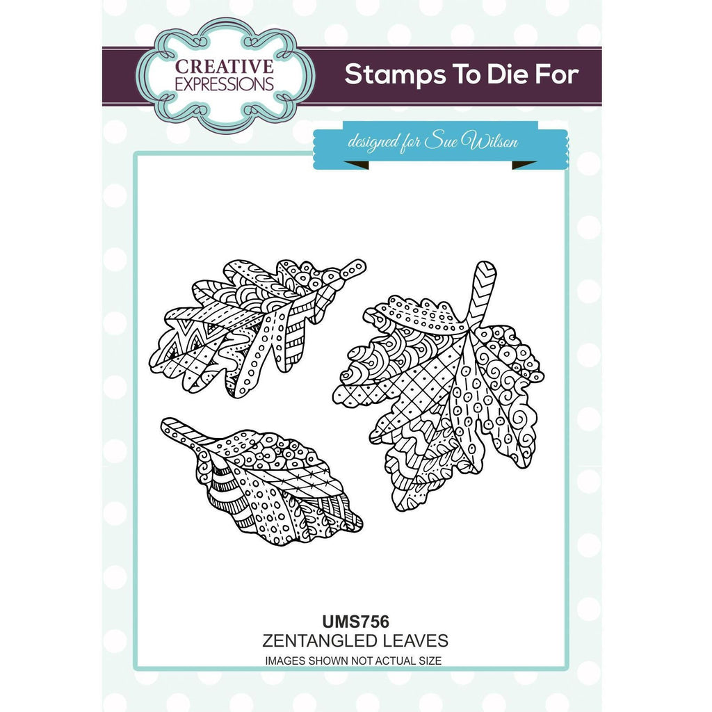 Sue Wilson Stamps To Die For - Zentangled Leaves