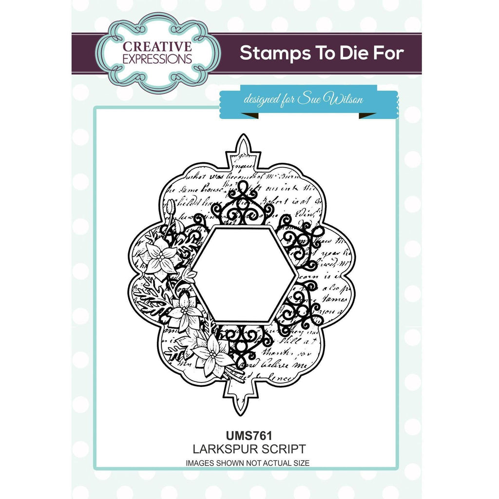 Sue Wilson Stamps To Die For - Larkspur Script