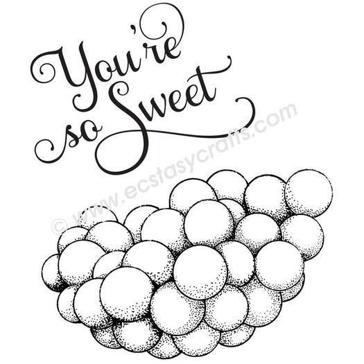 Youre So Sweet - Sue Wilson Foam Mounted Stamp