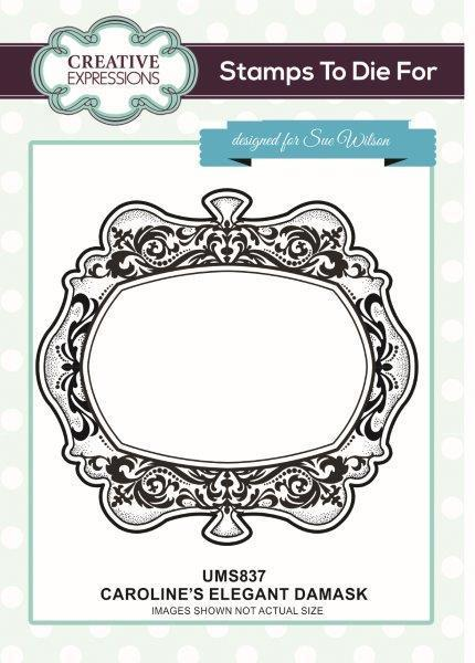Sue Wilson Designs Cling Mounted Stamp - Carolines Elegant Damask