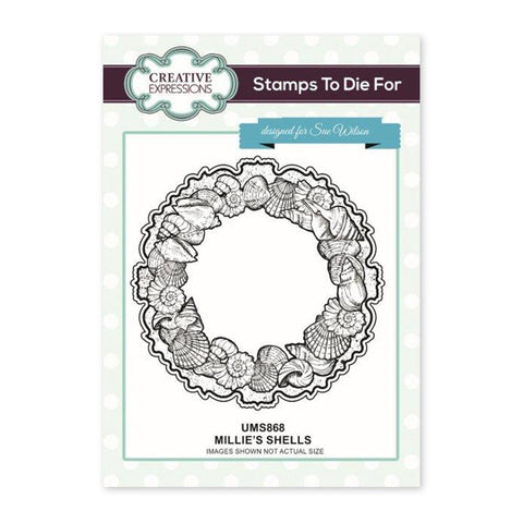 Creative Expressions - Millies Shells Pre Cut Stamp