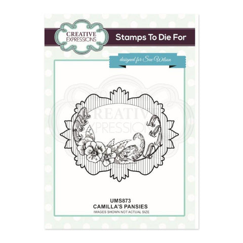 Creative Expressions Pre Cut Stamp - Camillas Pansies