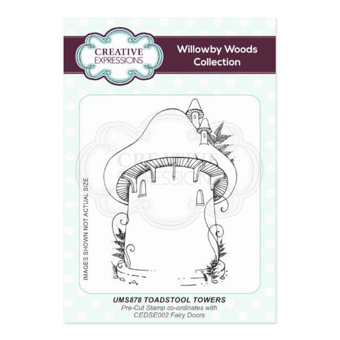 Creative Expressions A6 Pre Cut Rubber Stamp - Toadstool Towers