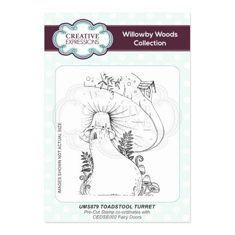 Creative Expressions A6 Pre Cut Rubber Stamp - Toadstool Turret