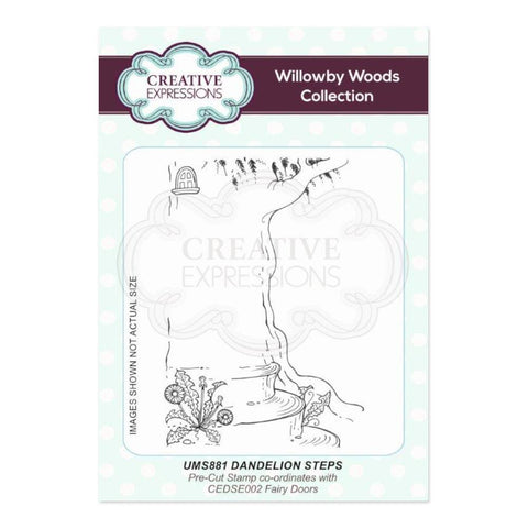 Creative Expressions A6 Pre Cut Rubber Stamp - Dandelion Steps