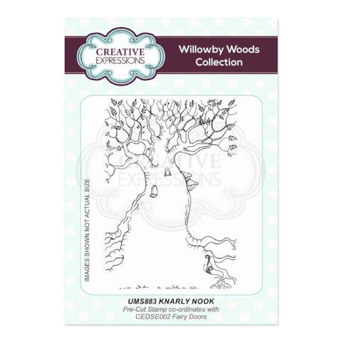 Creative Expressions A6 Pre Cut Rubber Stamp - Knarly Nook