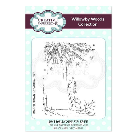 Creative Expressions - Snowy Fir Tree A6 Pre Cut Rubber Stamp