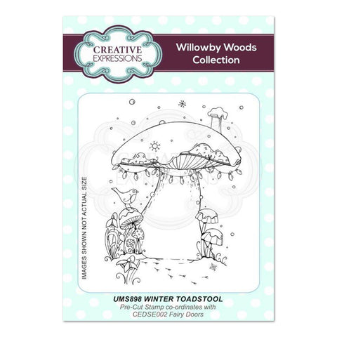 Creative Expressions - Winter Toadstool A6 Pre Cut Rubber Stamp