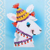 Vervaco Diamond Art Beginner Kit with Frame 8.5in X 8.5in - Llama