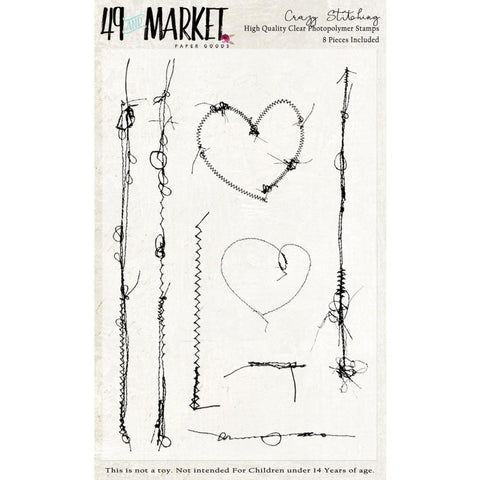 49 And Market Clear Stamps 4in x 6in - Crazy Stitching