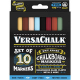 VersaChalk Fine Liquid Chalk Markers 10 pack Assorted Classic Colours