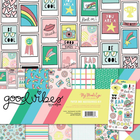My Minds Eye Paper & Accessories Kit 12x12 inch - Good Vibes