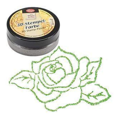 Viva Decor - 3D Stamp Paint 50Ml - Grass Green-Metallic
