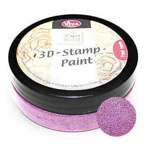 Viva Decor - 3D Stamp Paint 50Ml - Rose