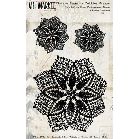 49 And Market Vintage Remnants Stamp Set Doilies