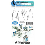 Art Impressions Watercolor Cling Rubber Stamps 4x7 inch Branches