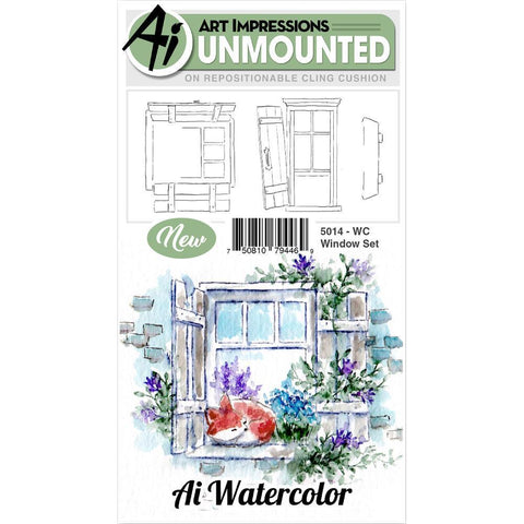 Art Impressions Watercolor Cling Rubber Stamps - Window