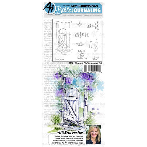 Art Impressions Bible Journaling Watercolour Rubber Stamps Gates Of Righteousness