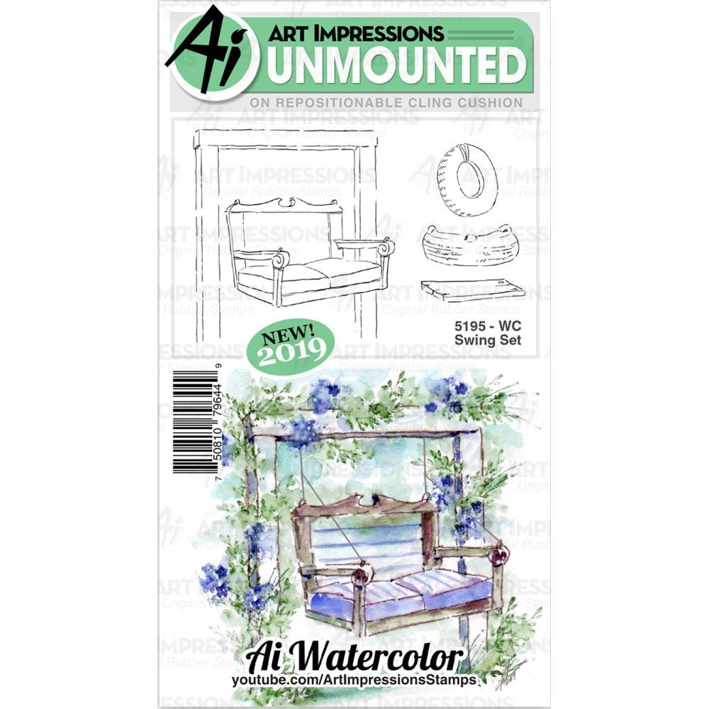 Art Impressions - Watercolour Cling Rubber Stamps - WC Swing