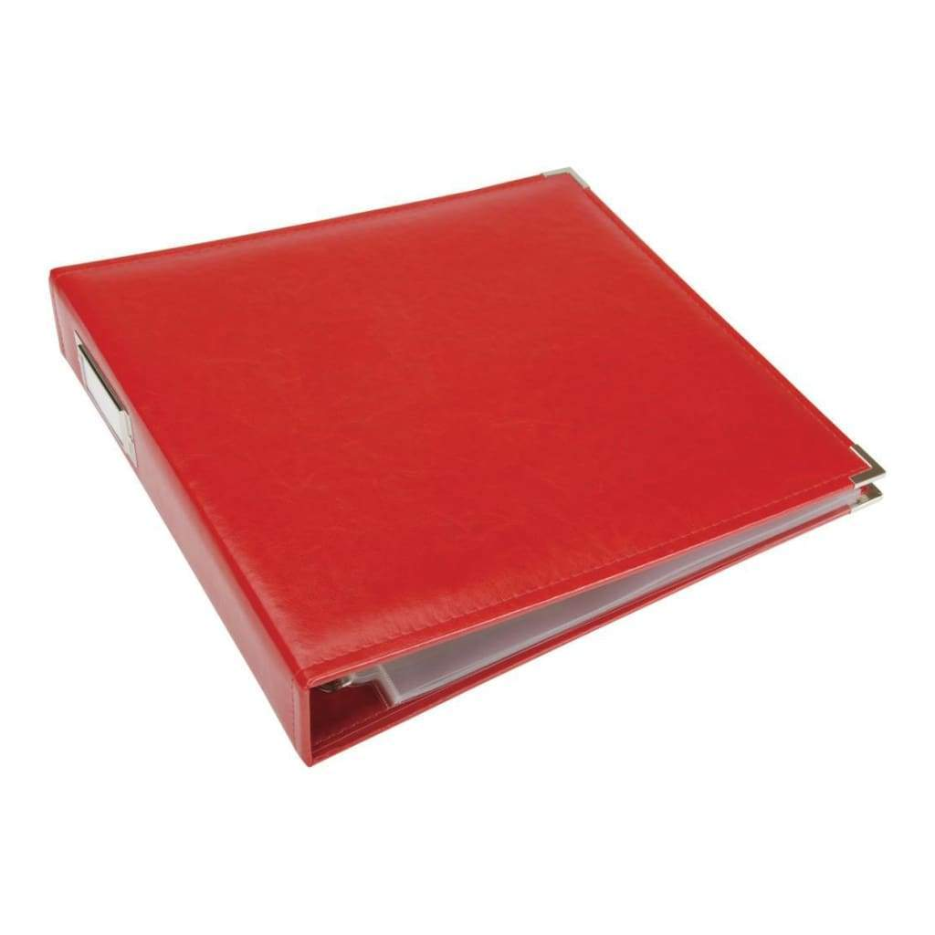 We R Classic Leather D-Ring Album 12x12 inch -  Real Red
