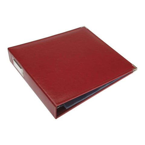 "We R Classic Leather D-Ring Album 12""X12"" Wine"