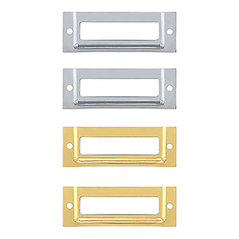 We R Memory Keepers LabelIT .375 inch Bookplates 4 pack - Silver & Gold