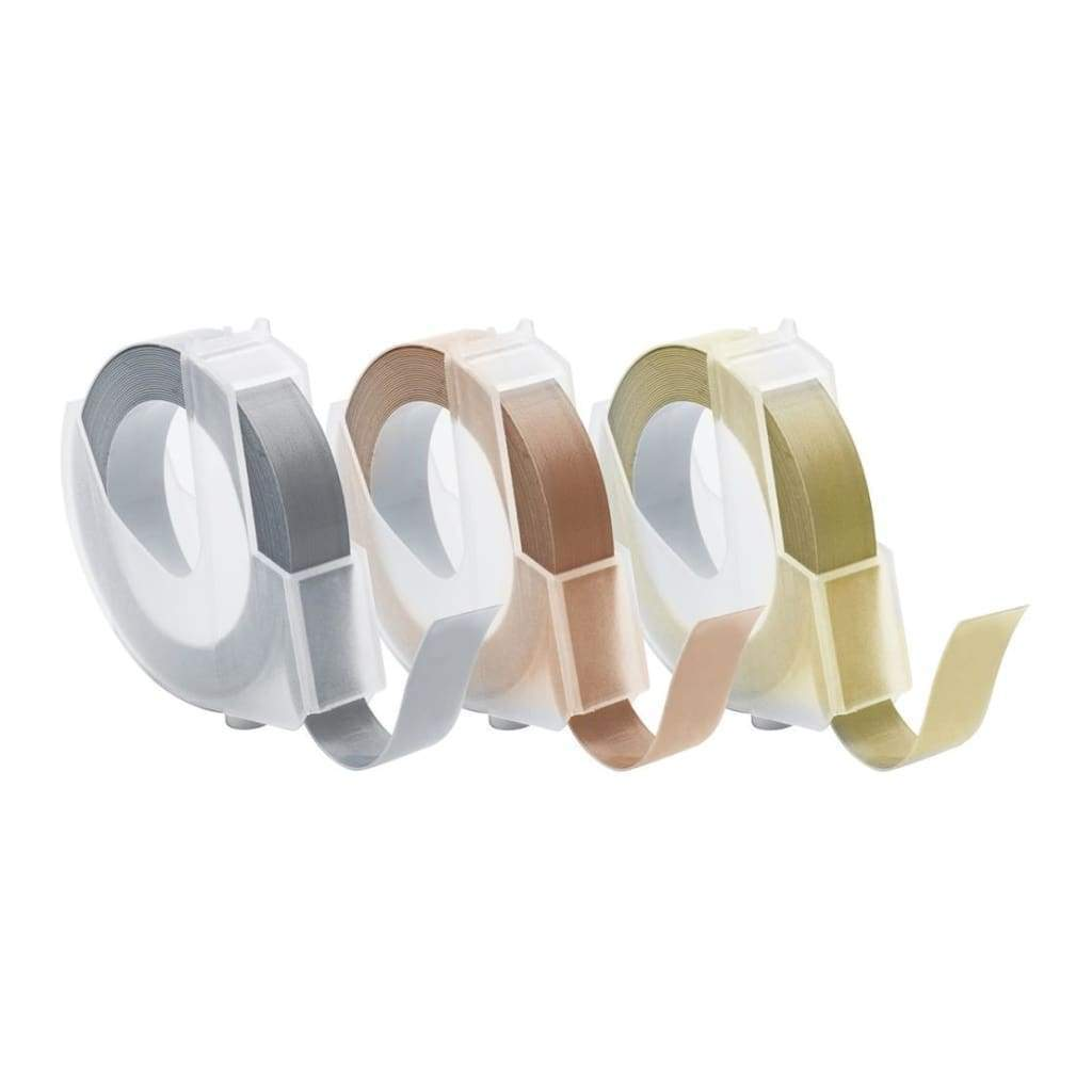 We R Memory Keepers LabelIT .375 inch Emboss Tape Rolls 3 pack - Metallic