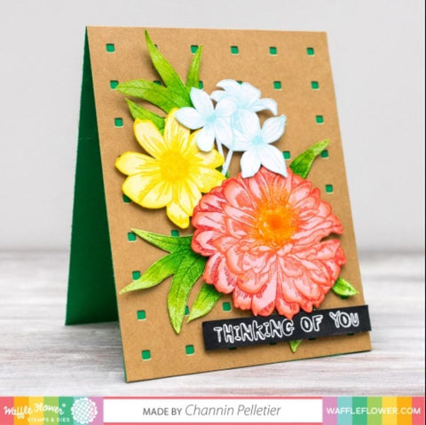 Waffle Flower Crafts - Texture Dies - Micro Grid Panel 1