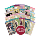 Hunkydory Whopper Topper A5 Paper Pad 40 pack Deco Delight, 20 Designs/2 Each