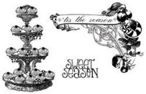 Unity / Webster's Pages Cling Stamps - Sweet Season *