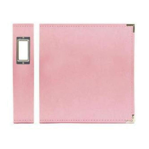 We R Classic Leather D-Ring Album 12x12 inch - Pretty Pink