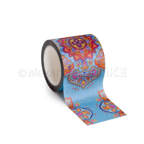 Alexandra Renke - Washi Tape 40mmX10m - Big Mandala Azure Blue, Ornamentic 2