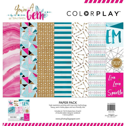 ColorPlay Collection Pack 12x12 inch - You're A Gem