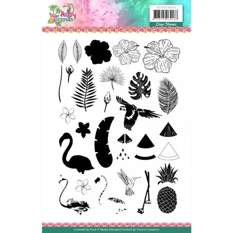 Find It Trading - Yvonne Creations Clear Stamps - Happy Tropics