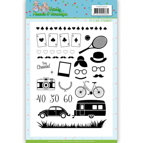 Find It Trading Yvonne Creations Clear Stamps - Funky Nannas