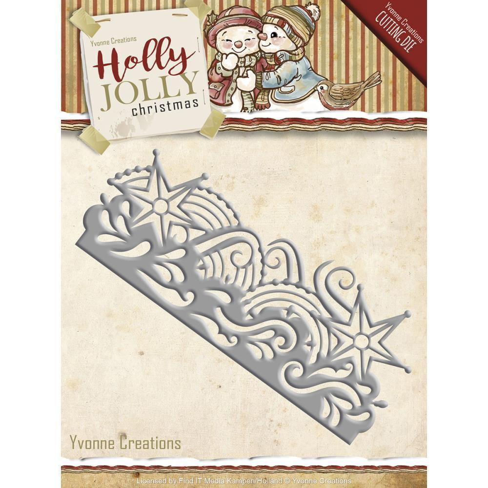Find It Trading Yvonne Creations Holly Jolly Die Snowflake Border