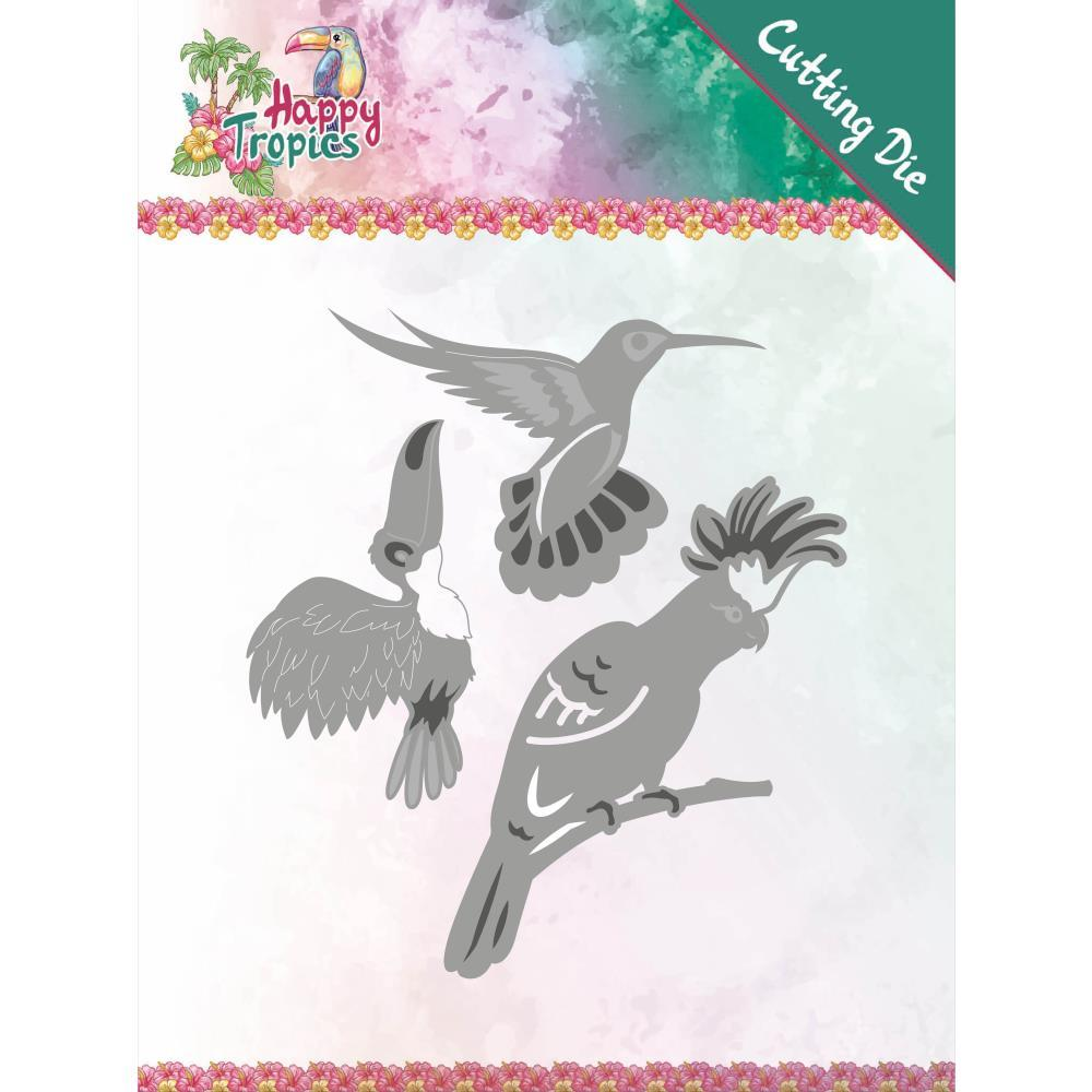 Find It Trading - Yvonne Creations Die - Exotic Birds, Happy Tropics