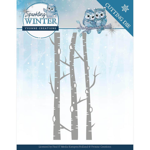 Find It Trading Yvonne Creations Die - Birch Trees, Sparkling Winter