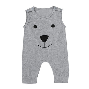 """Bear"" Sleeveless Romper"