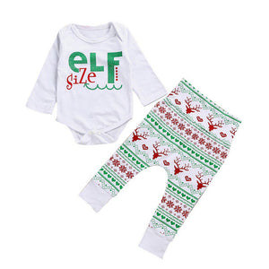 Christmas Cute 2PCS Outfit Set Baby Clothing