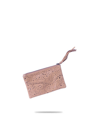 Jess Zipper Pouch (Light Tan)