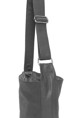 Ripple and Co Leather Jude Petite Cross Shoulder Bag Elephant Grey