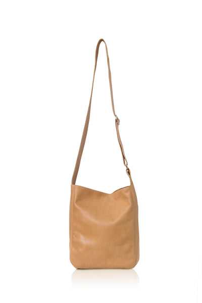 Ripple and Co Leather Cross Shoulder Bag Jude Petite Tan